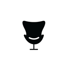 home or office armchair black silhouette icon vector image