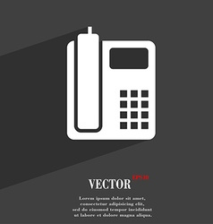home phone symbol Flat modern web design with long vector image