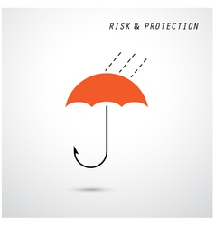 Hooks and red umbrella vector image