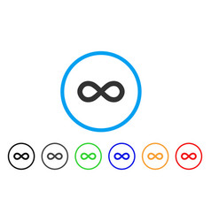 infinity rounded icon vector image