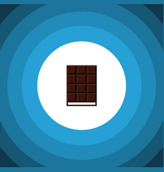 Isolated wrapper flat icon dessert element vector