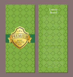 luxury brand premium quality 100 exclusive label vector image