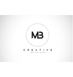 Mb m b logo design with black and white creative vector