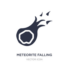 meteorite falling icon on white background simple vector image