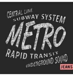 Metro vintage stamp vector