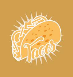 mexican food tacos delicious tasty vector image