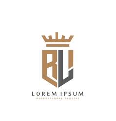 premium rl monogram two letters rl elegant vector image