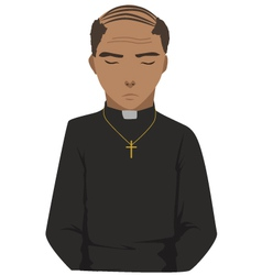 priest vector image