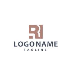 r square unique logo design inspiration vector image