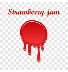raspberry drip jam 3d sweet raspberries splash vector image