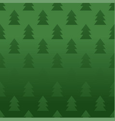 Seamless pattern with pine trees vector
