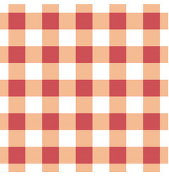 seamless table cloth texture in red-orange color vector image