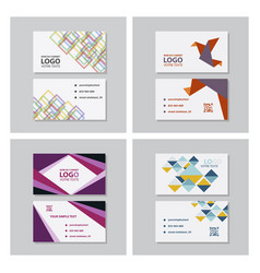 set of creative and clean business card template vector image