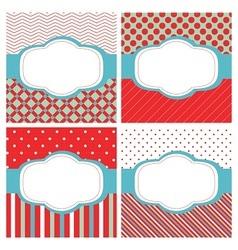 Set of patterned labels vector image