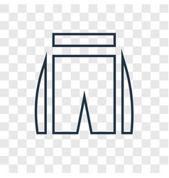 Shin concept linear icon isolated on transparent vector