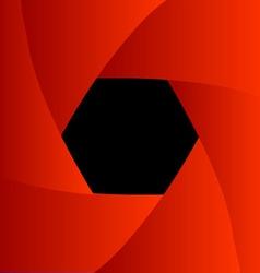 Shutter aperture background or design element vector