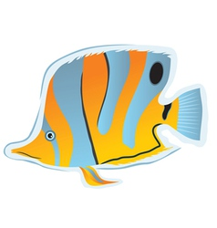 sticker tropical fish vector image