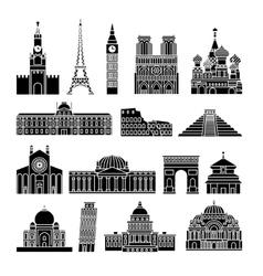 Travel Landmarks Icons vector