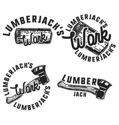 Vintage lumberjack emblems vector