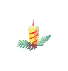 watercolor candle vector image