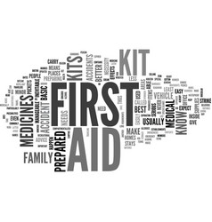 Why are first aid kits important text word cloud vector