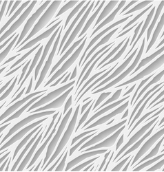 Abstract white hand-drawn waves seamless pattern vector image