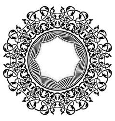 black frame with ornamental border vector image vector image