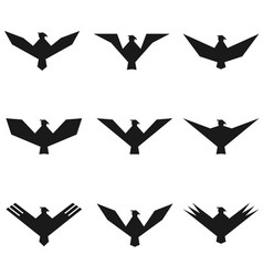 eagle symbol set vector image