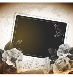 grunge romantic vintage background vector image