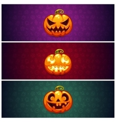 Horizontal Halloween Banners Background with vector image vector image
