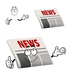 Newspaper character with news headline vector image vector image