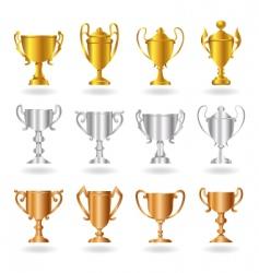 trophies vector image