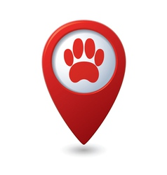animal footstep RED pointer vector image vector image