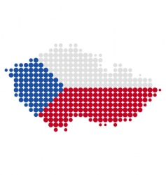 Czech Republic map and flag vector image vector image