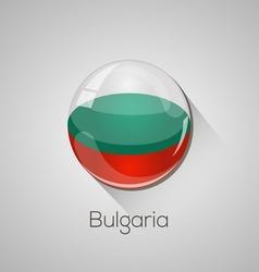 European flags set - Bulgaria vector image