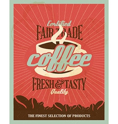 Retro Vintage Coffee Background with Typography vector image