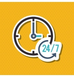 Time and technical service icon design vector