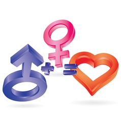 3d love vector image vector image