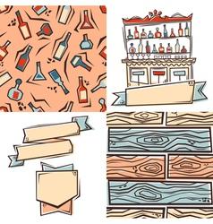 Bar design elements vector image vector image