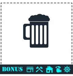 Beer icon flat vector image
