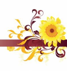 flower graphic background vector image vector image