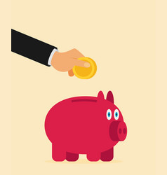 pig bank icon vector image vector image