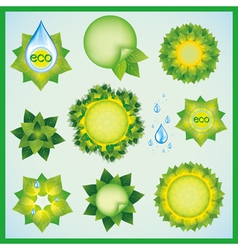 Set of decorative elements for eco design vector image vector image