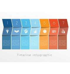 timeline 7 vector image