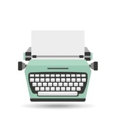 typewriter machine design vector image