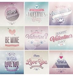 valentine emblems light vector image