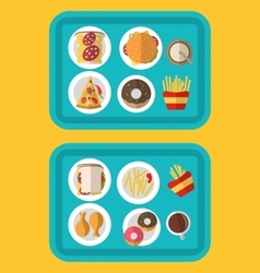a fast food meal consisting vector image