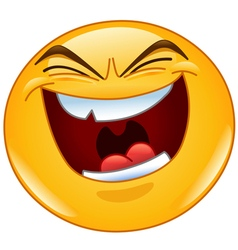 evil laugh emoticon vector image