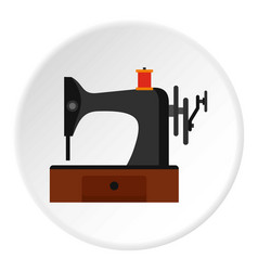 sewing machine icon circle vector image
