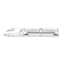 Sketch-speed train Taiwan Asia vector image